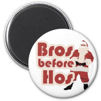 Bros Before Hos Santa 2 Inch Round Magnet