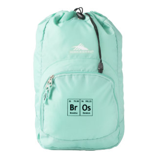 BrOs Chemistry Periodic Table Words Element Symbol High Sierra Backpack