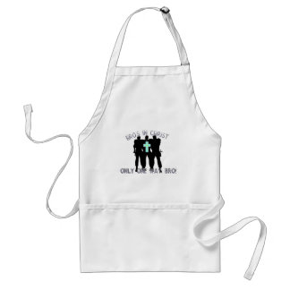 Bros in Christ - Only One Way Bro! Adult Apron