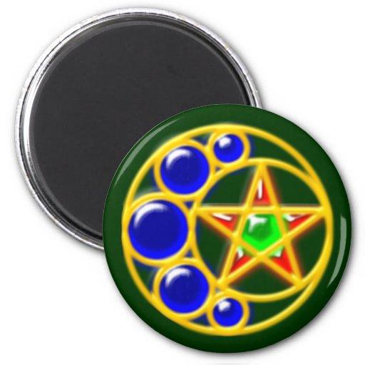brosche brooch half-moon star crescent star fridge magnet