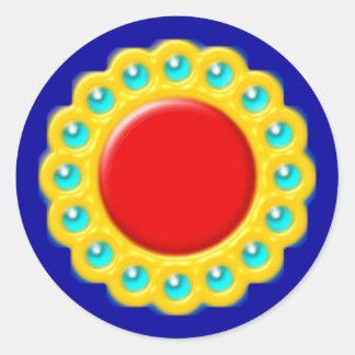 brosche brooch pegatina redonda