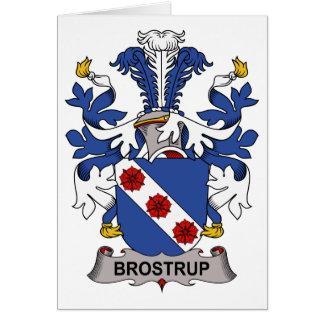 Brostrup Family Crest Card