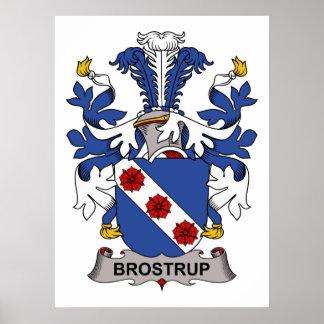 Brostrup Family Crest Print