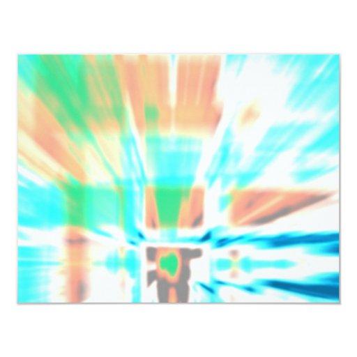 """Brote abstracto invitación 4.25"""" x 5.5"""""""