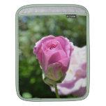 Brote color de rosa romántico funda para iPads