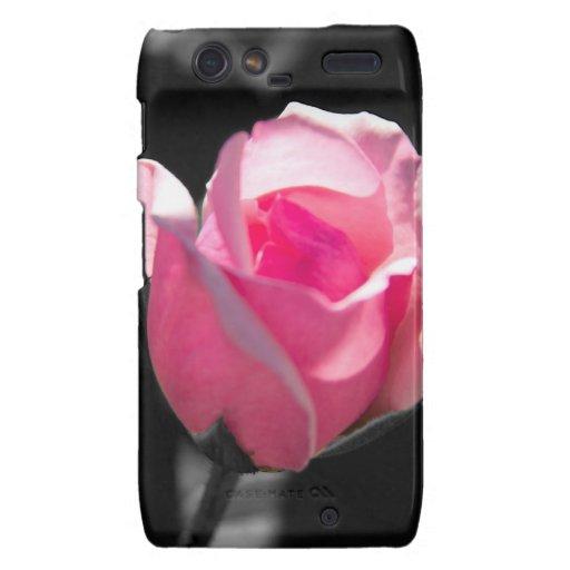 Brote color de rosa rosado BW Motorola Droid RAZR Fundas