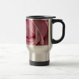 Brote color de rosa rosado precioso taza de viaje
