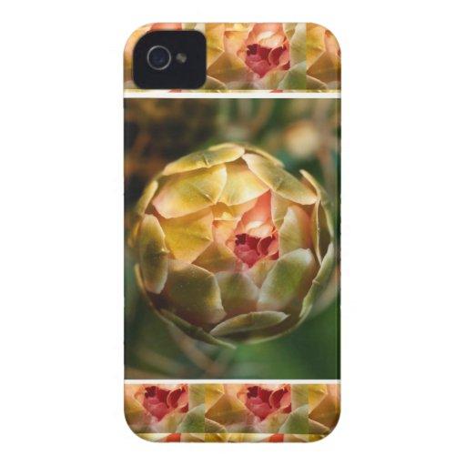 BROTE de flor: Rubí elegante del diamante como iPhone 4 Protector