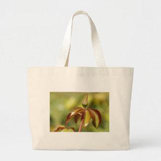 Brote de flor y hojas de Spikey Bolsa Tela Grande