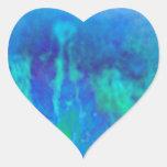 Brote de la primavera de la foto de la bella arte pegatina en forma de corazón