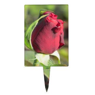 Brote del rosa rojo decoración para tarta