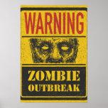 Brote del zombi del poster. Tablero de la muestra