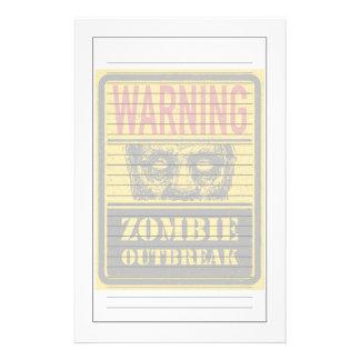 Brote del zombi del poster. Tablero de la muestra Papelería De Diseño