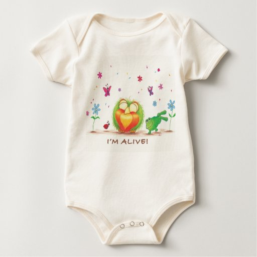 ¡Brote orgánico VIVO! mono Body Para Bebé