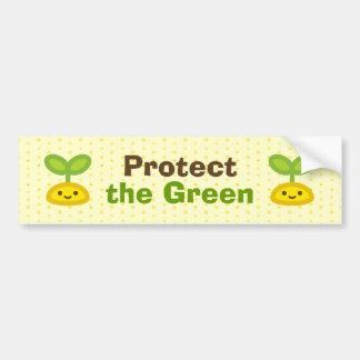 Brote verde minúsculo pegatina para auto