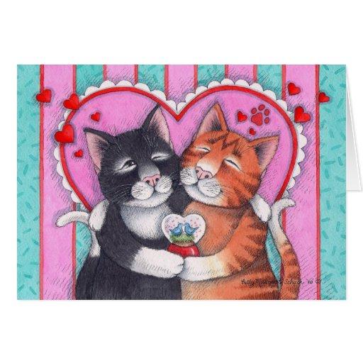 Brote y tarjeta del día de San Valentín Notecard d