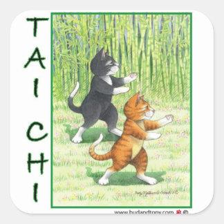 Brote y Tony del pegatina de los gatos de la ji