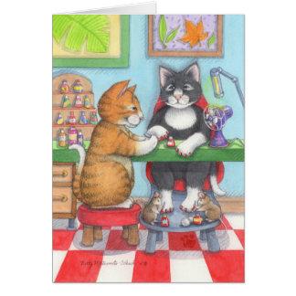 Brote y Tony Notecard de la manicura del Tarjeta De Felicitación