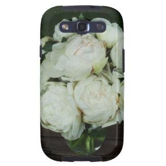 Brotes de flor blancos del Peony Galaxy SIII Cárcasas