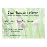 Brotes de flor de la cebolleta plantilla de tarjeta de negocio