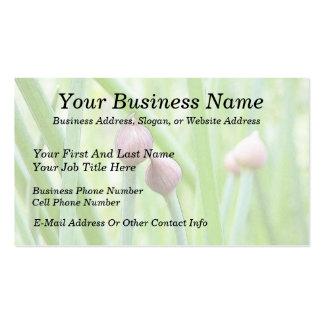 Brotes de flor de la cebolleta tarjetas de visita