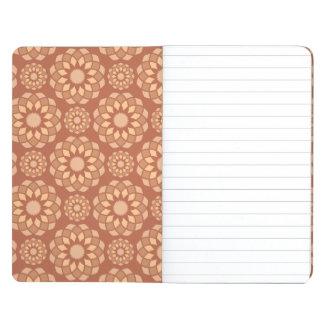 Brotes de flor ornamentales abstractos de Brown Cuaderno Grapado