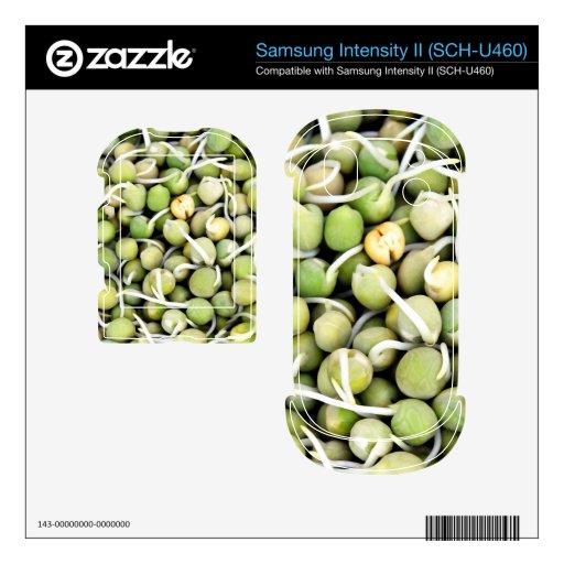 Brotes de los guisantes samsung intensity skins
