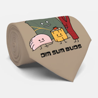 Brotes felices de Dim Sum Corbatas Personalizadas