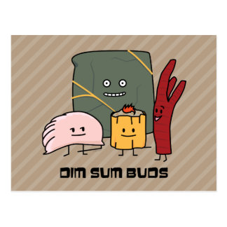 Brotes felices de Dim Sum Tarjeta Postal