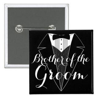 Brothe del botón del banquete de boda de Tux del Pin Cuadrado