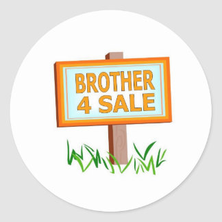 brother 4 sale boys classic round sticker