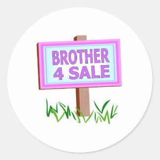 brother 4 sale classic round sticker
