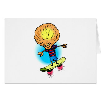 Brother Alien Sky Boarding Stationery Note Card