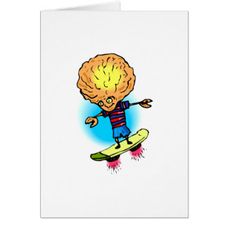 Brother Alien Sky Boarding Greeting Card