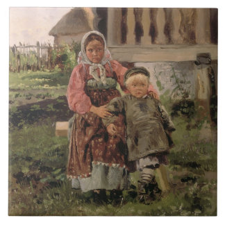 Brother and Sister, 1880 Tile