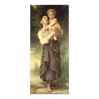 Brother and Sister, Bouguereau, Vintage Victorian Announcement