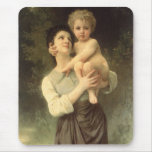 Brother and Sister, Bouguereau, Vintage Victorian Mousepad