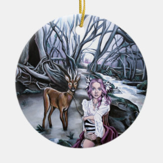 brother and sister ceramic ornament