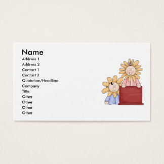 Brother and Sister Flower Kids Business Card