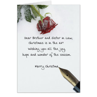 brother and sister-in-law Merry Christmas card