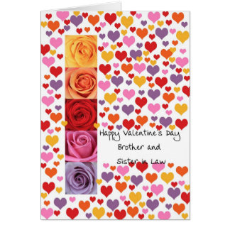 Brother and Sister in Law Valentine´s Day Greeting Card