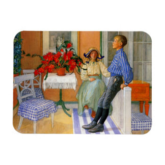Brother and Sister in the Sunroom 1911 Magnet