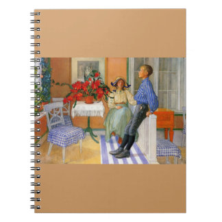 Brother and Sister in the Sunroom 1911 Notebook