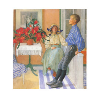 Brother and Sister in the Sunroom 1911 Notepad