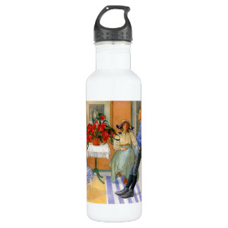 Brother and Sister in the Sunroom 1911 Stainless Steel Water Bottle
