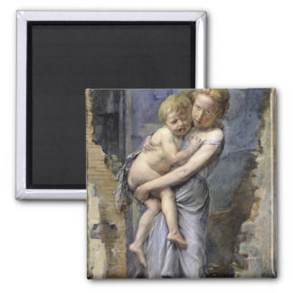 Brother and Sister Fridge Magnet