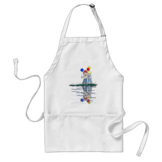 Brother and Sister Reflections with Balloons Adult Apron