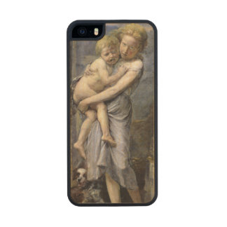 Brother and Sister Carved® Maple iPhone 5 Slim Case