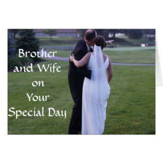 Brother and Wifeon Your Special Day Card