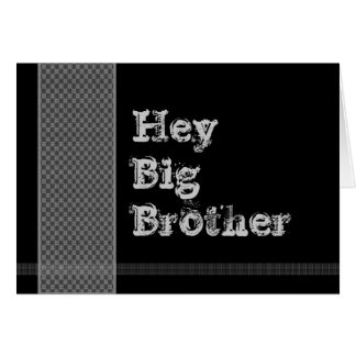 BROTHER Be My Best Man - Black and Silver Checks Card